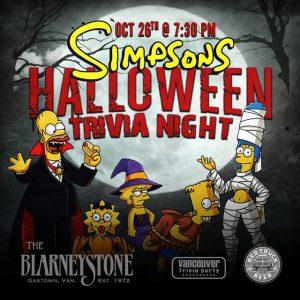 The Simpsons Halloween Trivia Night @ The Blarney Stone
